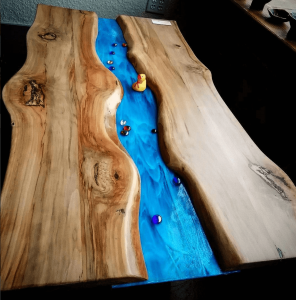 Wood Table at Artisans on Main